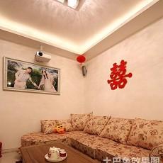 精选80平米二居客厅田园装修图片欣赏
