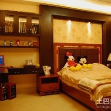 精美104平米三居卧室中式实景图片大全