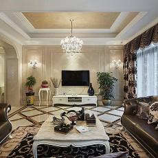 面积117平别墅客厅欧式装修设计效果图片大全