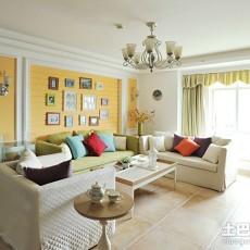 精美80平米田园小户型客厅装饰图