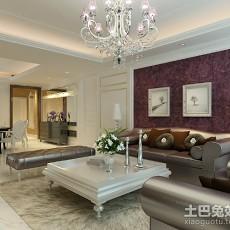 2018精选面积78平欧式二居客厅效果图片