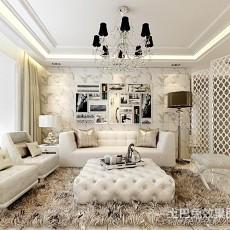 热门大小104平欧式三居客厅实景图片大全