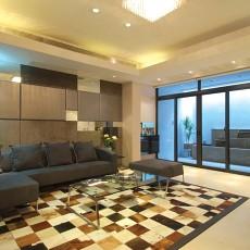 91平米三居客厅简约装修图片欣赏