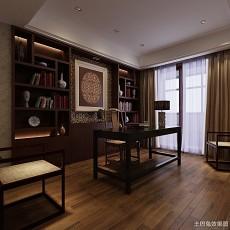 2018中式别墅书房装修效果图片欣赏