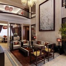 2018131平米中式别墅客厅装修图片