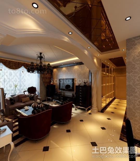 新中式客厅装修效果图大全2013图片