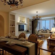 面积128平别墅客厅欧式实景图片大全