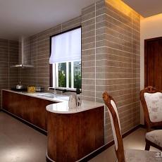 2018面积129平别墅厨房中式欣赏图片
