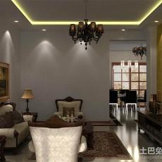 2018精选面积87平欧式二居客厅装修实景图片欣赏