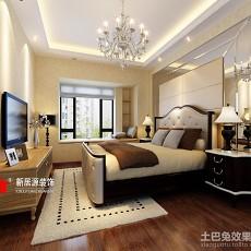 96平米三居卧室现代实景图