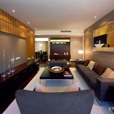 2018面积76平小户型客厅现代设计效果图