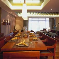 热门127平米东南亚复式餐厅装修效果图片
