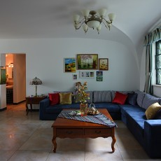 201887平米二居客厅地中海实景图