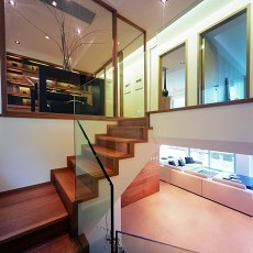 精美现代别墅过道装修设计效果图片
