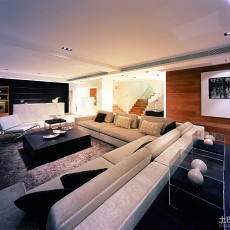 精美面积125平复式客厅现代装修设计效果图片大全
