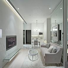 85平米欧式小户型客厅装修实景图片大全