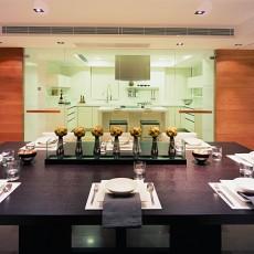 热门108平方三居餐厅现代装修实景图