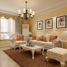 精美面积85平田园二居客厅装修图