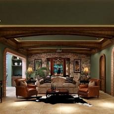 2018精选面积120平复式客厅美式装修设计效果图片欣赏