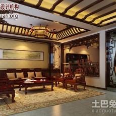 精美138平方中式别墅客厅实景图