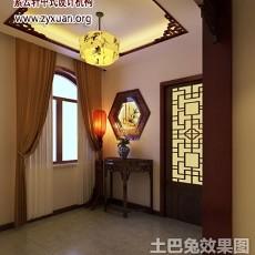 精选143平米中式别墅玄关欣赏图
