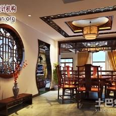 精选面积142平别墅餐厅中式装修效果图片欣赏