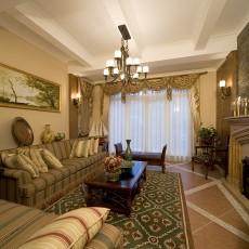 面积131平欧式四居客厅装修设计效果图片