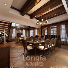精美面积104平美式三居餐厅实景图片欣赏