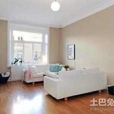 2018精选大小90平欧式三居客厅效果图片