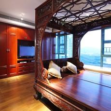 精选大小123平中式四居卧室装修设计效果图