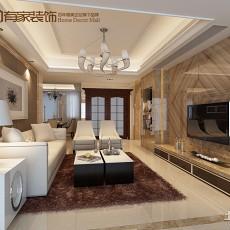 面积93平欧式三居客厅装修效果图片