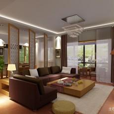 热门94平方三居客厅中式实景图片