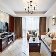 面积79平美式二居客厅装修效果图片