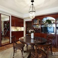精选88平米二居餐厅美式装修效果图片欣赏