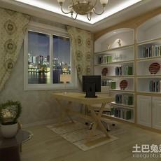 面积100平现代三居书房效果图片欣赏