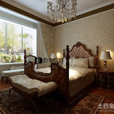 热门109平方三居卧室欧式实景图片大全