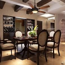 热门面积75平美式二居餐厅装修欣赏图片