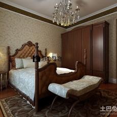 精美91平米三居卧室欧式设计效果图