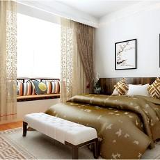 2018精选面积99平中式三居卧室效果图片