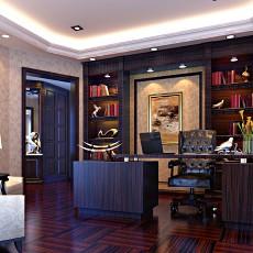 热门84平米欧式小户型书房装修实景图