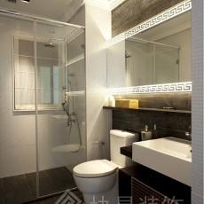 面积74平小户型卫生间现代装修设计效果图