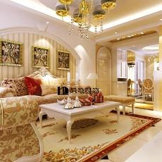 热门大小118平别墅客厅欧式效果图片大全