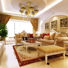 精选127平方欧式别墅客厅欣赏图片