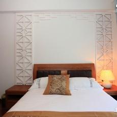 精美面积98平中式三居卧室效果图片
