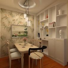 面积106平现代三居餐厅实景图片欣赏