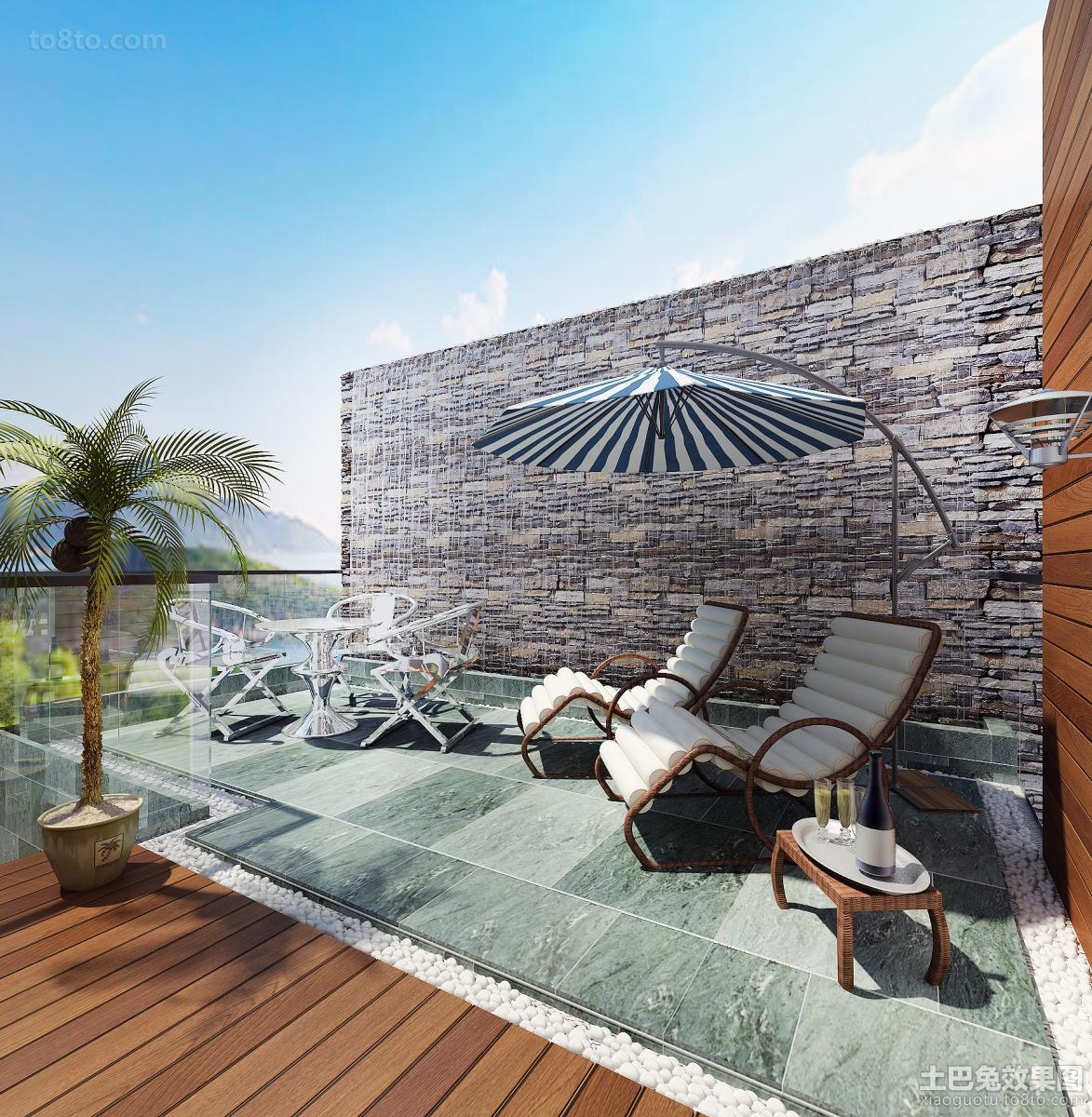 简约复式楼露天阳台设计