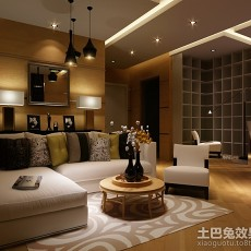 精美面积87平简约二居客厅装饰图片欣赏