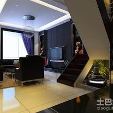 精美简约复式客厅装修实景图片