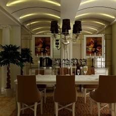 热门139平米欧式复式餐厅装修设计效果图片欣赏