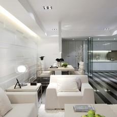 热门大小109平现代三居客厅装修设计效果图
